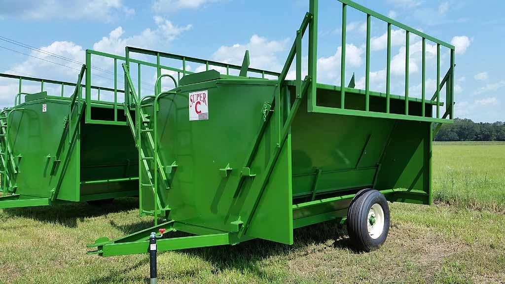 10 ft Super C (SCF7317-P) Cow Feeder w/Creeps